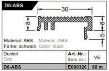 Krytka D 8-ABS - 60 bm (20x3bm), černá