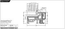 Balkonový práh Weser-A 51/32-TI EV1