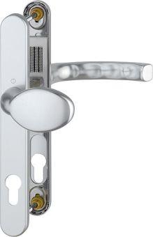 Kování s úzkým štítkem Liege 30, klika-koule, 8/92 mm 67-72, stříbrná