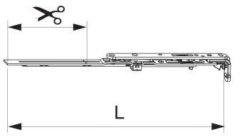 Nůžky MM montované se spárovým větráním 400 FFB 320-400, pravé