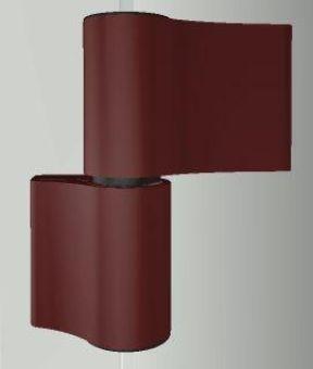 Dveřní pant TB-4, 2-dílný, rozteč 86mm, RAL8077 hnědá