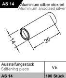 Přídavná trubička - výztuha pro okapnice, stříbrná