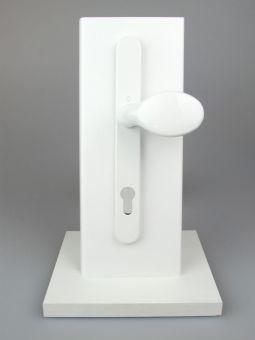 Kování s úzkým štítkem Tokyo, klika-koule, 8/92mm, 67-72mm, bílá RAL9016