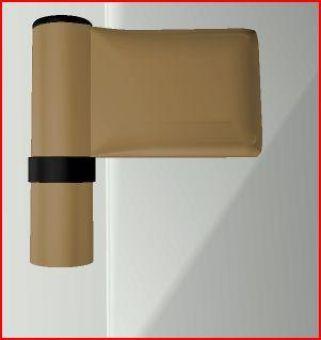 Dveřní pant KT-SV, 15-20mm, RAL1036 bronz