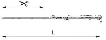 Nůžky MM montované se spárovým větráním 600 FFB 401-600, levé