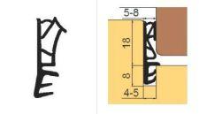 SH 118 TPE Profil s kordem pro výrobu dveří, černý