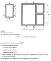 Normou ČSN 746077 definované rozmístění kotvících prvků